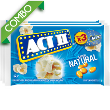 ACT II NATURAL PACK 3 UNIDS  273GR