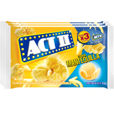 ACT II MANTEQUILLA PACK 3 UNIDS 273GR